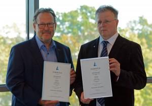 Certificate Pertti Haavisto and Juhani Tulki